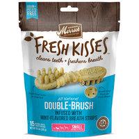 Merrick Fresh Kisses Mint Breath Strips Small Brush Dental Dog Treats, 15 Count