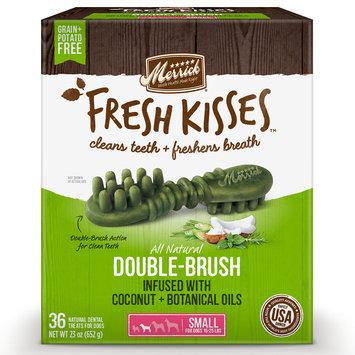 Merrick Fresh Kisses Coconut Oil + Botanicals Small Brush Dental Dog Treats, 36 Count