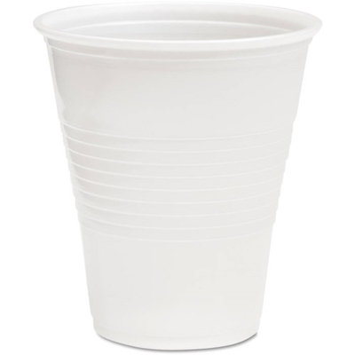 Boardwalk BWKTRANSCUP12CT Translucent Plastic Hot & Cold Cups; 12 oz.; 1000 Per Carton