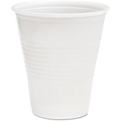 Boardwalk BWKTRANSCUP12CT Translucent Plastic Hot & Cold Cups; 12 oz.; 1000 Per Carton