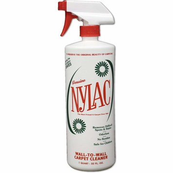 Nylac Carpet Cleaner - QUART with Sprayer (Wall-to-Wall Cleaner) [Removes Difficult Spots and Stains | Eco-friendly | No toxic chemical fumes | No Residue | Harmless to children and pets | Odorless]