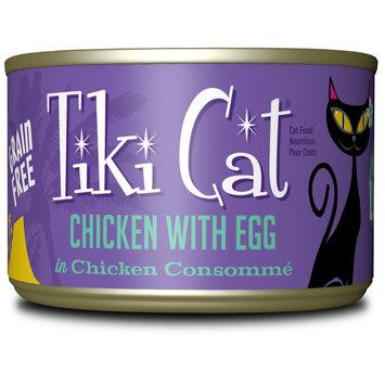 Whitebridge Pet Brands TK10790 Tiki Cat Koolina Luau Grain-Free Chicken with Egg Wet Cat Food - 6 oz - Case of 8