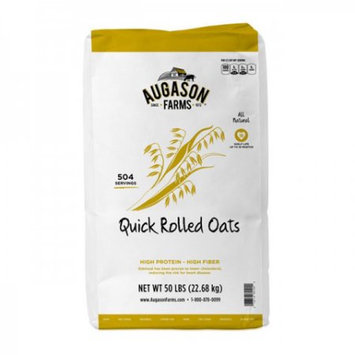Blue Chip Group Augason Farms Quick Rolled Oats, 504 Servings, 18 Month Shelf Life, 50 Pound Bag