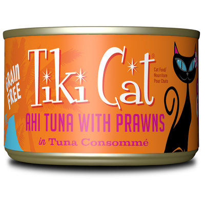 Tiki Cat Manana Grill Ahi Tuna Prawns Wet Cat Food, 6 oz, Case of 8