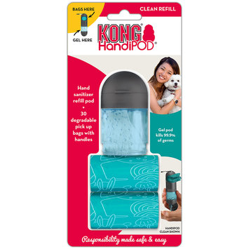 KONG HandiPOD Refill Hand Sanitizer and 2 Bag Rolls, One Size Fits All, Blue