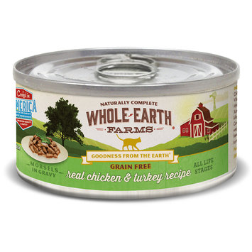 Merrick Pet Food WE86110 Whole Earth Farms Cat Grain Free Morsels Chicken Turkey - 2.75oz - Case of 24