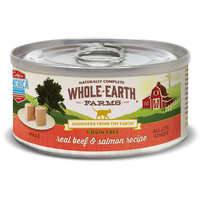 Merrick Pet Food WE86113 Whole Earth Farms Cat Grain Free Beef & Salmon - 2.75 oz - Case of 24