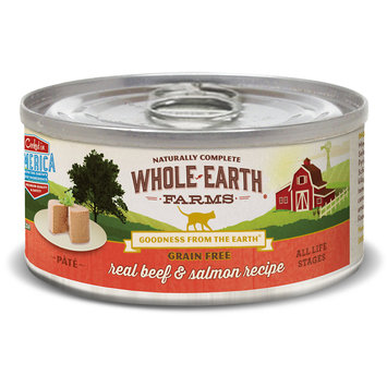 Merrick Pet Food WE86113 Whole Earth Farms Cat Grain Free Beef & Salmon - 2.75 oz - Case of 24
