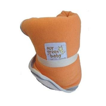 Organic Changing Pad - Diaper Travel Changing Pad - Orange Sherbert