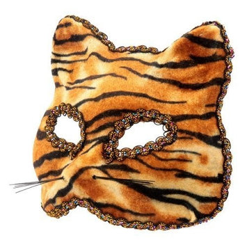 The Rubber Plantation TM 619219292535 Tiger Venetian Masquerade Halloween Gatto Feline Cat Fancy Dress Party Prom Masked Ball Costume Accessory, Unisex-Adult, One Size