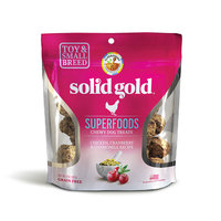 Solid Gold Grain Free Chicken, Cranberry & Chamomile Small & Toy Breed Chewy Dog Treats, 4 oz.