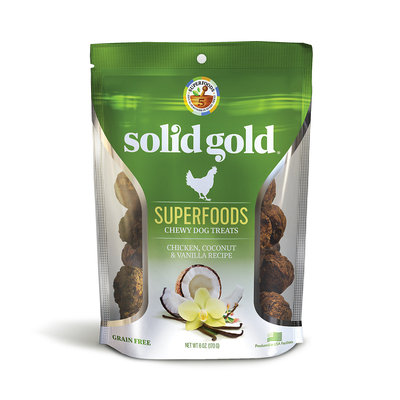 Solid Gold Grain Free Chicken, Coconut & Vanilla Natural Chewy Dog Treats, 6 oz.