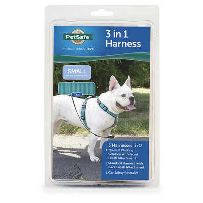 PetSafe 3 in 1 Harness, Small, Teal, Teal / Grey