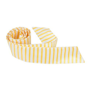Matching Tie Guy 2969 Y3 HT - 42 in. Child Matching Hair Tie - Yellow With White Stripes