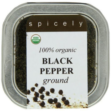 Spicely Tin Organic Pepper Ground, Black, 3 Ounce (Pack Of 2)