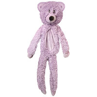 Multipet Aromadog Calming Dog Toy Fleece Flat Body Bear, Lavender, One Size Fits All, Purple