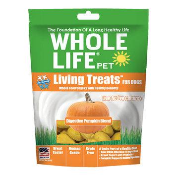 Whole Life Pet Living Treats USA Freeze Dried Pumpkin Treats for Dogs, 3 oz.