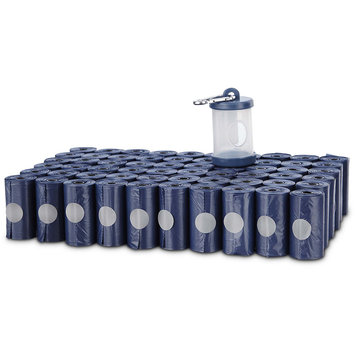 Animaze Dog Waste Bag Rolls and Dispenser, 900 CT