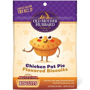 Old Mother Hubbard Limited Edition Chicken Pot Pie Natural Dog Treats, 6-Ounce Bag, Small