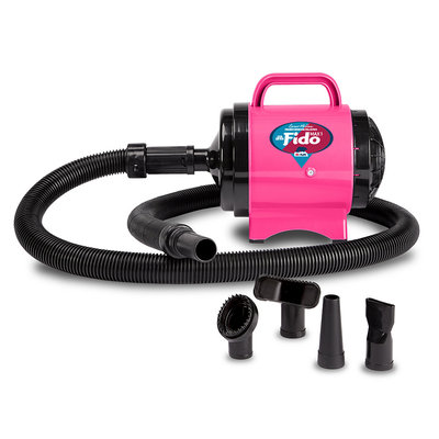 B-Air Cesar Millan Premier Grooming Collection 2 HP Fido Max 1 Pet Grooming Dog Dryer, Hot Pink