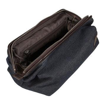 Men's Lee Top-Zip Travel Kit, Beig/Green (Beig/Khaki)