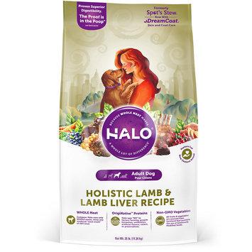 Halo Holistic Lamb and Lamb Liver Dry Dog Food, 25 lbs.