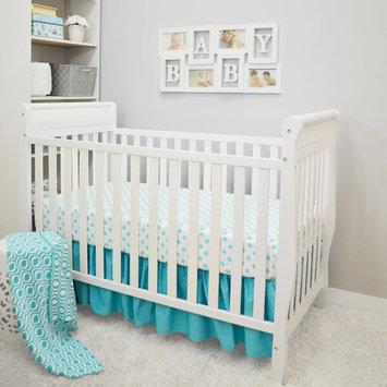 TL Care 3-pc. Polka-Dot Crib Bedding Set, Turquoise/Blue (Turq/Aqua)