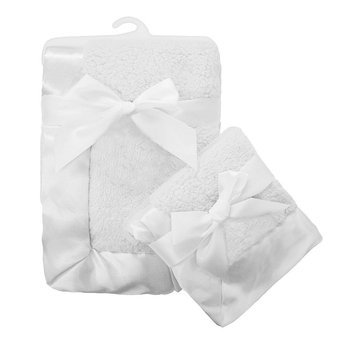 TL Care 2-pk. Sherpa Receiving Blanket Set, White, One Size