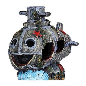 Bestgoo Fish Tank Decoration, Aquarium Green Artificial Plastic Water Plant Ornament