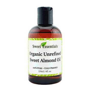 Organic Unrefined Sweet Almond Oil | 4oz Imported From Italy | 100% Pure | Cold Pressed | Hexane Free | Natural Moisturizer |Great For Hair, Skin & Nails | Carrier Oil |...