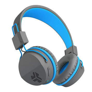 JLab Neon Bluetooth On-Ear Headphones with Universal Mic, Blue