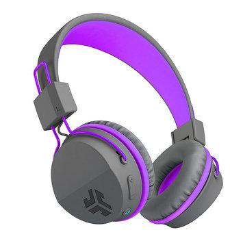 JLab Neon Bluetooth On-Ear Headphones with Universal Mic, Purple