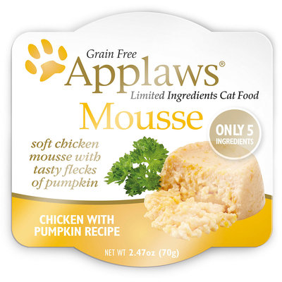 Applaws Chicken and Pumpkin Mousse Wet Cat Food, 2.47 oz, Case of 12