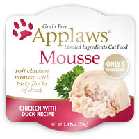 Applaws Chicken and Duck Mousse Wet Cat Food, 2.47 oz, Case of 12