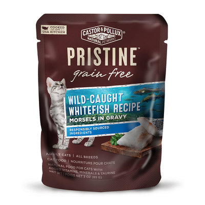 Castor & Pollux Pristine Grain Free Wild-Caught Whitefish Recipe Wet Cat Food, 3 oz, Case of 24 pouches