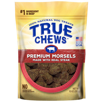 True Chews Premium Morsels Made With Real Steak Dog Treats, 10 oz.