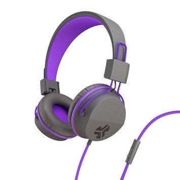 JLab(R) Neon Headphones With Universal Microphone, Gray/Purple