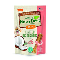 Nylabone Nutri Dent Limited Ingredients Coconut Dog Treats, 4.9 oz.