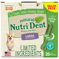 Nylabone Nutri Dent Limited Ingredients Fresh Breath Dog Treats, 2.2 lbs.