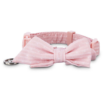 Bond & Co. Pink Polka Dot Puppy Collar, Small