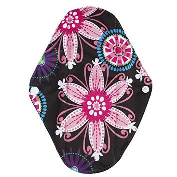 Reusable Menstrual Pads, Bestpriceam S/M/L Random Pattern Reusable Bamboo Cloth Washable Menstrual Pad Mama Sanitary (L, Black)