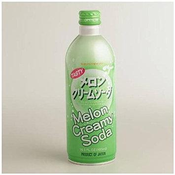 Ramune Melon Cream Soda 2- 16.5oz Bottles