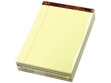 Tops 75370 Perforated Pads, Narrow Rule, Letter, Canary, 50-Sheet Pads/Pack, Dozen