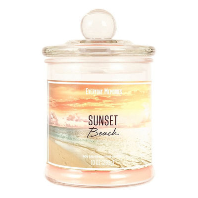 Sunset Beach 10-oz. Candle Jar, Orange