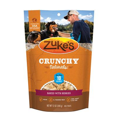 Zukes Zuke's Crunchy Naturals Baked With Berries Dog Treats,12 oz, Medium