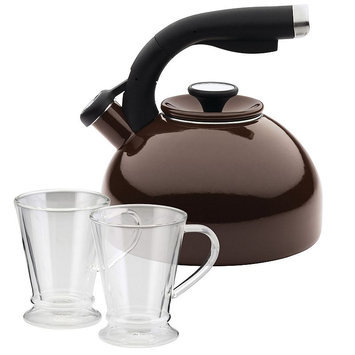 Circulon 3-pc. Teakettle & Beverage Mug Set, Brown