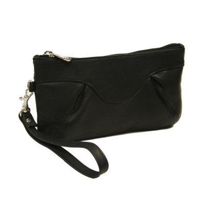 Piel Leather 2937-BLK Rainbow Wristlet - Black