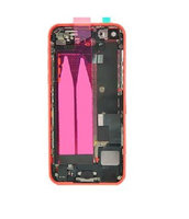 For iPhone 5C Pink Back Cover Full Housing Assembly with Cables and Small Parts