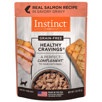 Natures Variety Nature's Variety Instinct Healthy Cravings Grain Free Real Salmon Recipe Natural Wet Cat Food Topper, 3 oz. Pouches, Case of 24