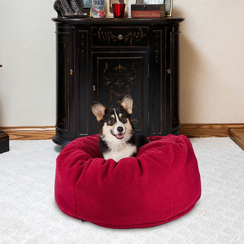 Paus Cuddle Ball Pet Bed, Red